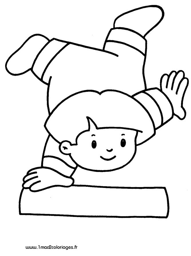 Coloriages Pour Les 3 4 Ans Un Enfant Fait Une Acrobatie A Imprimer