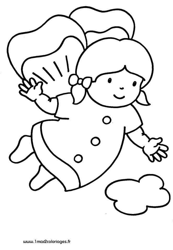 Coloriages pour les 3 4 ans une fille saute en parachute a imprimer - Coloriage fille 3 ans ...