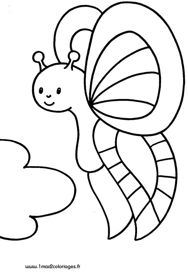 Coloriages pour les 3 4 ans joli papillon a imprimer - Coloriage 4 ans a imprimer ...