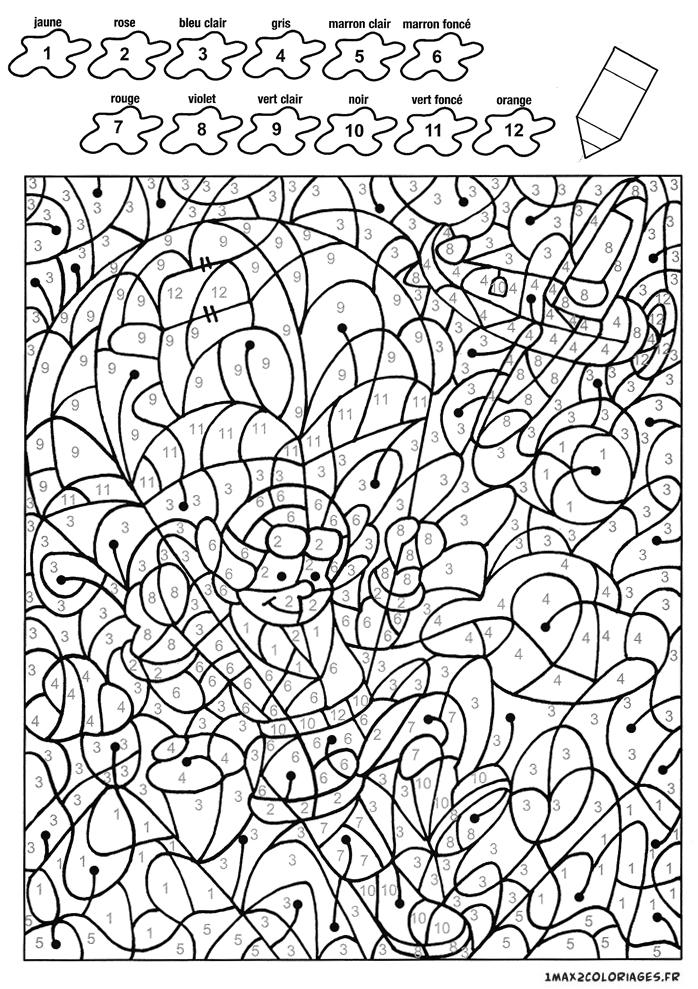 colorier avec les nombres avec 12 couleurs th o le parachutiste vient se sauter a imprimer. Black Bedroom Furniture Sets. Home Design Ideas