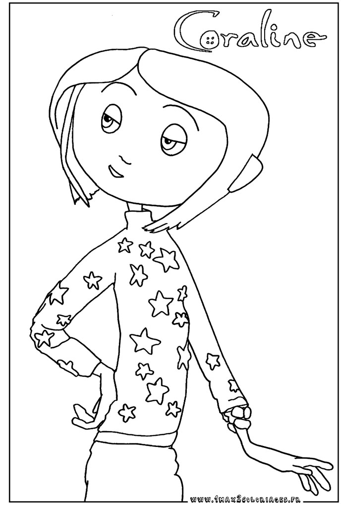 Tim burton coloring pages