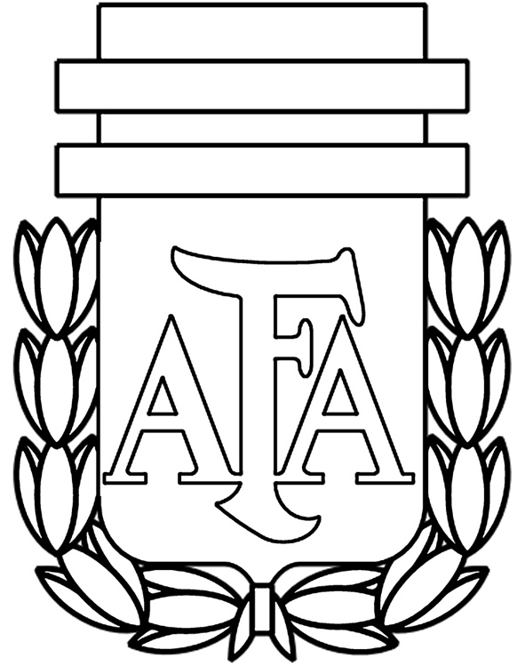 Coloriage des logos des equipes de football mondial 2014 logo quipe d 39 argentine de football a - Coloriage de logo de foot ...