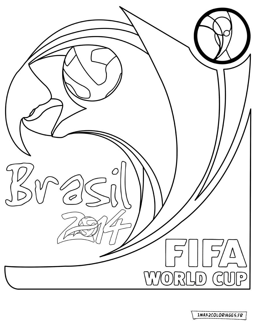Coloriage fifa coupe du monde 2014 logo logo fifa world cup 2014 a imprimer - Logo club foot bresil ...