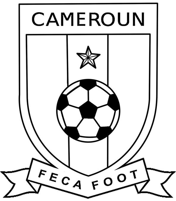 Coloriage des logos des equipes de football mondial 2014 logo equipe du cameroun a imprimer - Coloriage de logo de foot ...