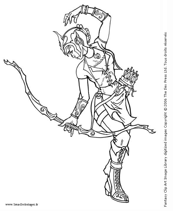 Coloriez au gr de vos envies des dessins d 39 h ro c fantasy et de manga - Manga coloriage elfe ...
