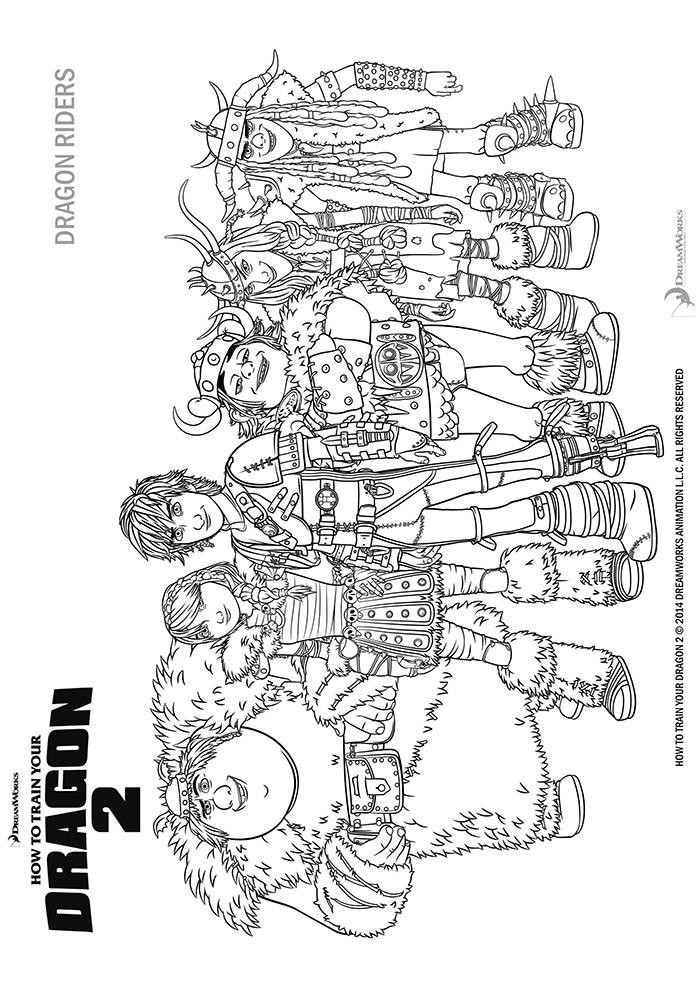 Coloriages des personnages de dragons 2 a imprimer - Coloriage dragon 2 ...