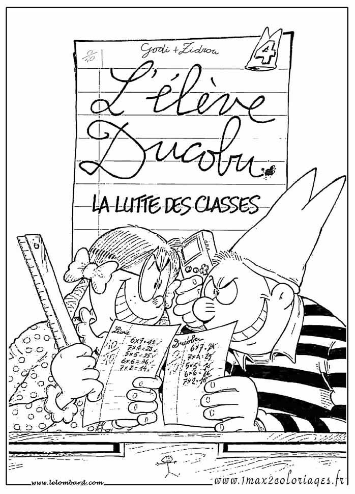 ... la lutte des classes ou choisir un autre coloriage de elève ducobu