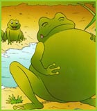 Coloriage de la fable la grenouille et le boeuf de jean - Image la grenouille et le boeuf ...