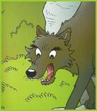 Pin coloriage corbeau picture pelautscom on pinterest - Dessin loup et agneau ...