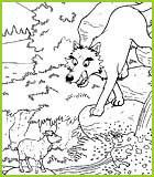 Coloriage de la fable le loup et l 39 agneau de jean de la - Dessin loup et agneau ...
