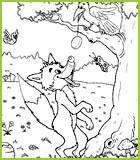 Coloriage de la fable le corbeau et le renard de jean de la fontaine - Coloriage le corbeau et le renard ...