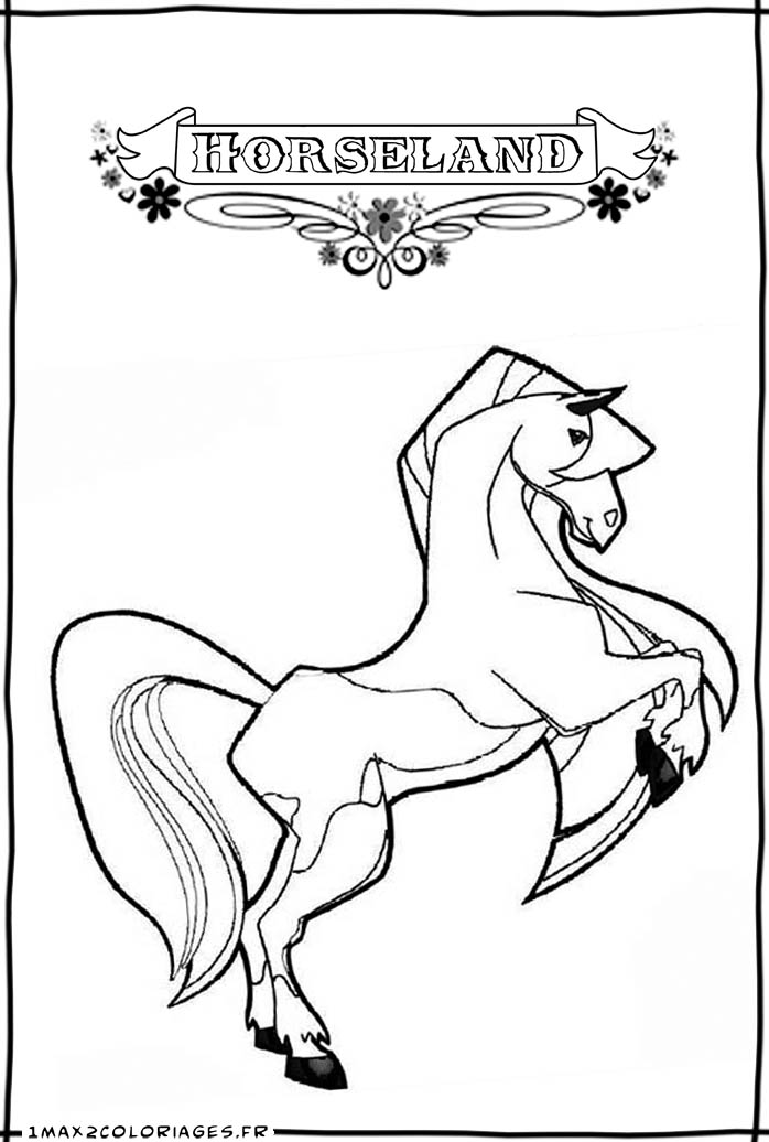 horseland coloring pages calypso coloriage horseland calypso - Horseland Coloring Pages Sunburst
