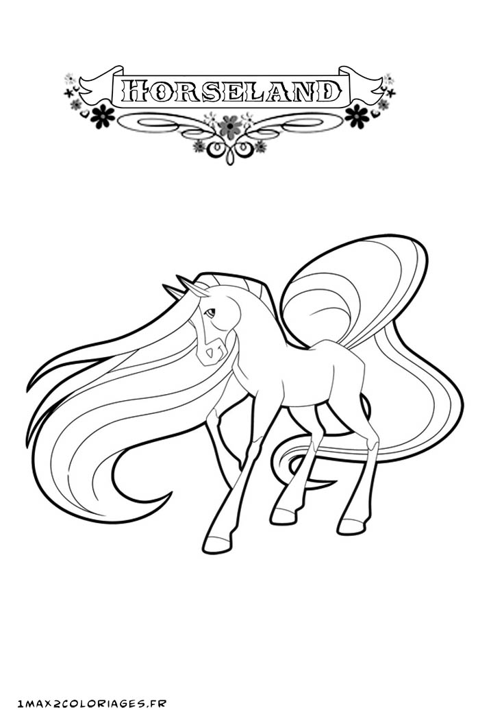 Horseland Coloring Pages Chili Olivero