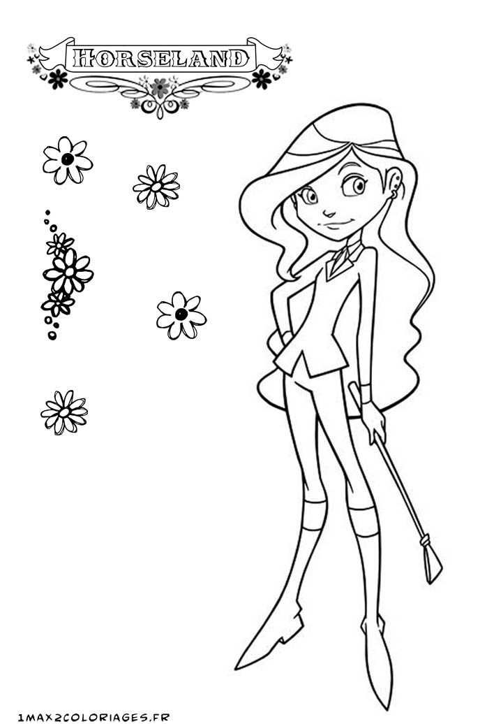 horseland coloring pages sarah | Horseland Scarlet And Sarah Coloring Pages