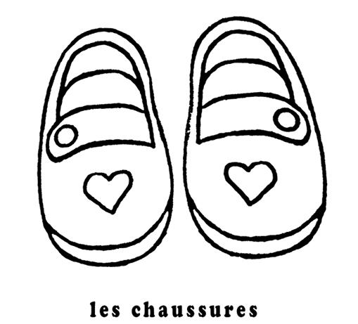 Mon Premier Imagier Les Chaussures A Colorier
