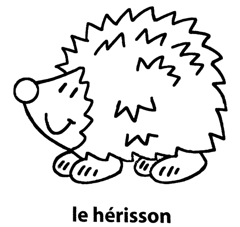 Mon Premier Imagier Le Herisson A Colorier