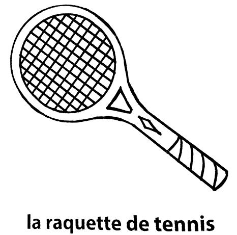 Pin raquette coloriage on pinterest - Dessin raquette ...