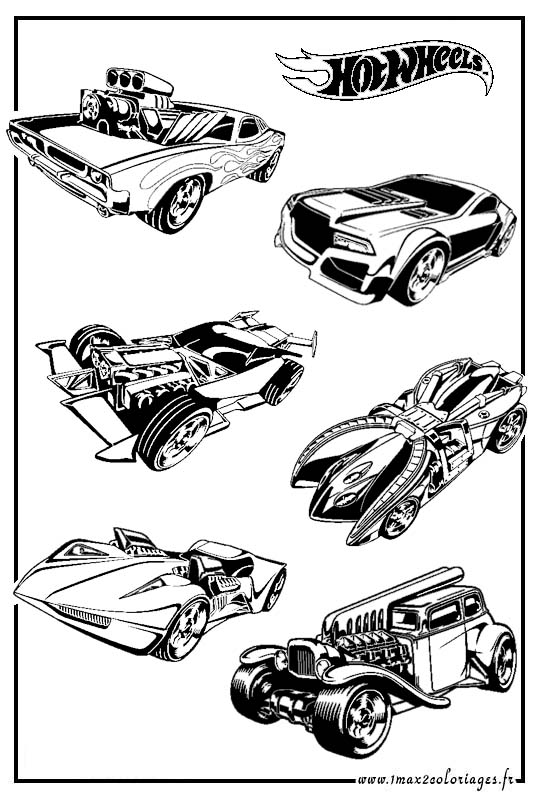 Coloriage les jouets a dessiner et colorier coloriage - Dessin hot wheels ...