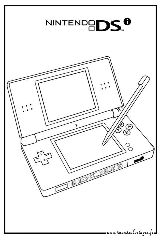 ds coloring pages nintendo ds coloring pages sketch coloring page