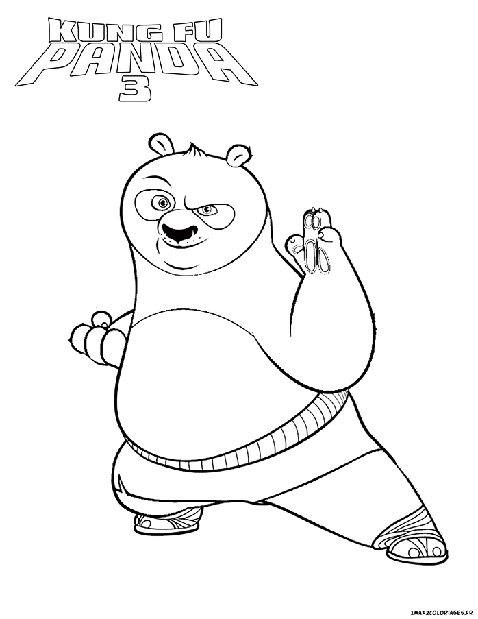 Kung Fu Panda 3 Colouring In Pages Coloring