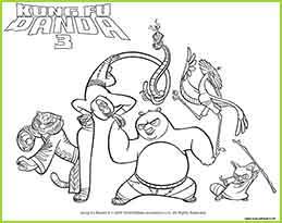 Kung fu panda3 coloriage des personnages du film - Coloriage kung fu panda ...