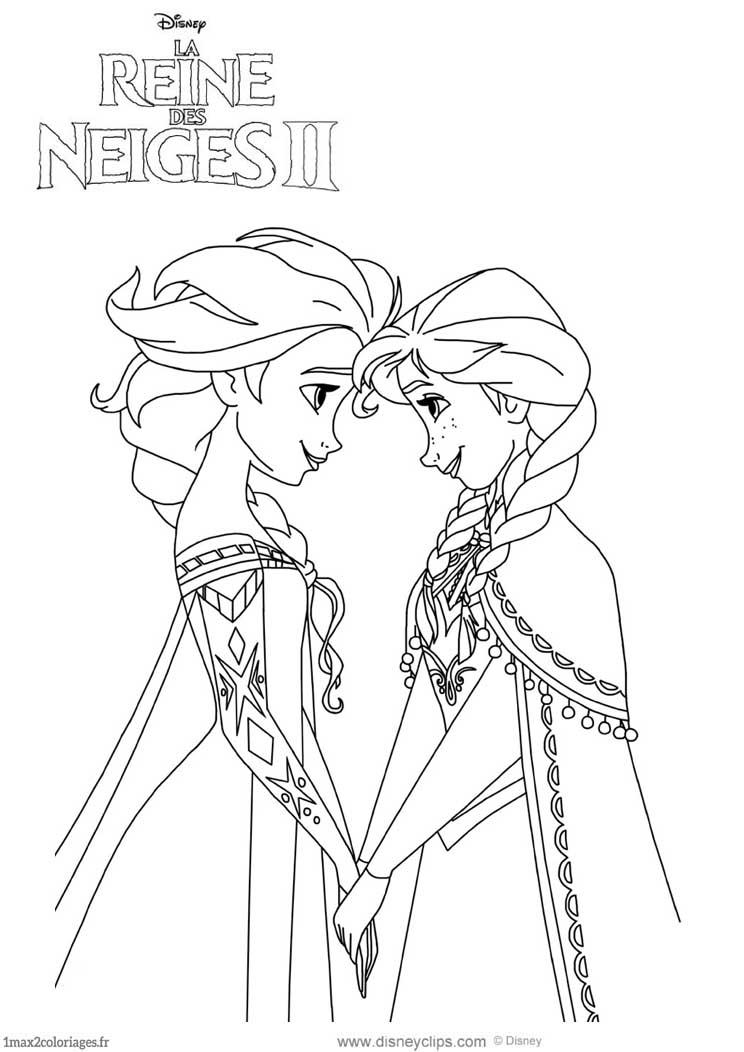 Elsa Et Anna Reviennent Dnas La Reine Des Neiges 2 A Colorier
