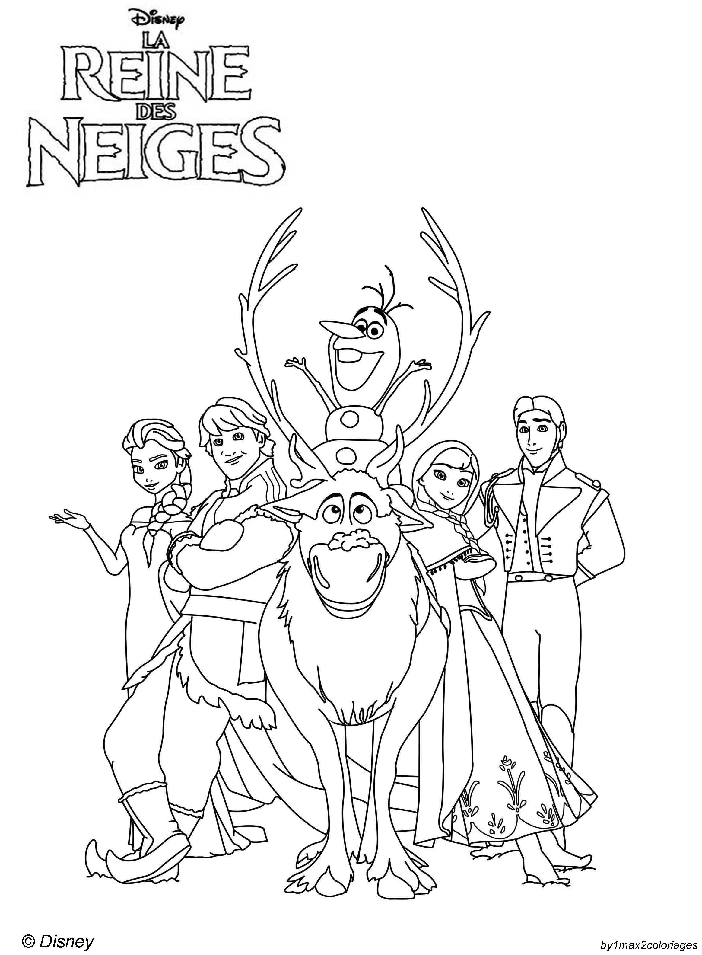 Coloriage des personnages disney la reine des neiges - Veilleuse la reine des neiges ...