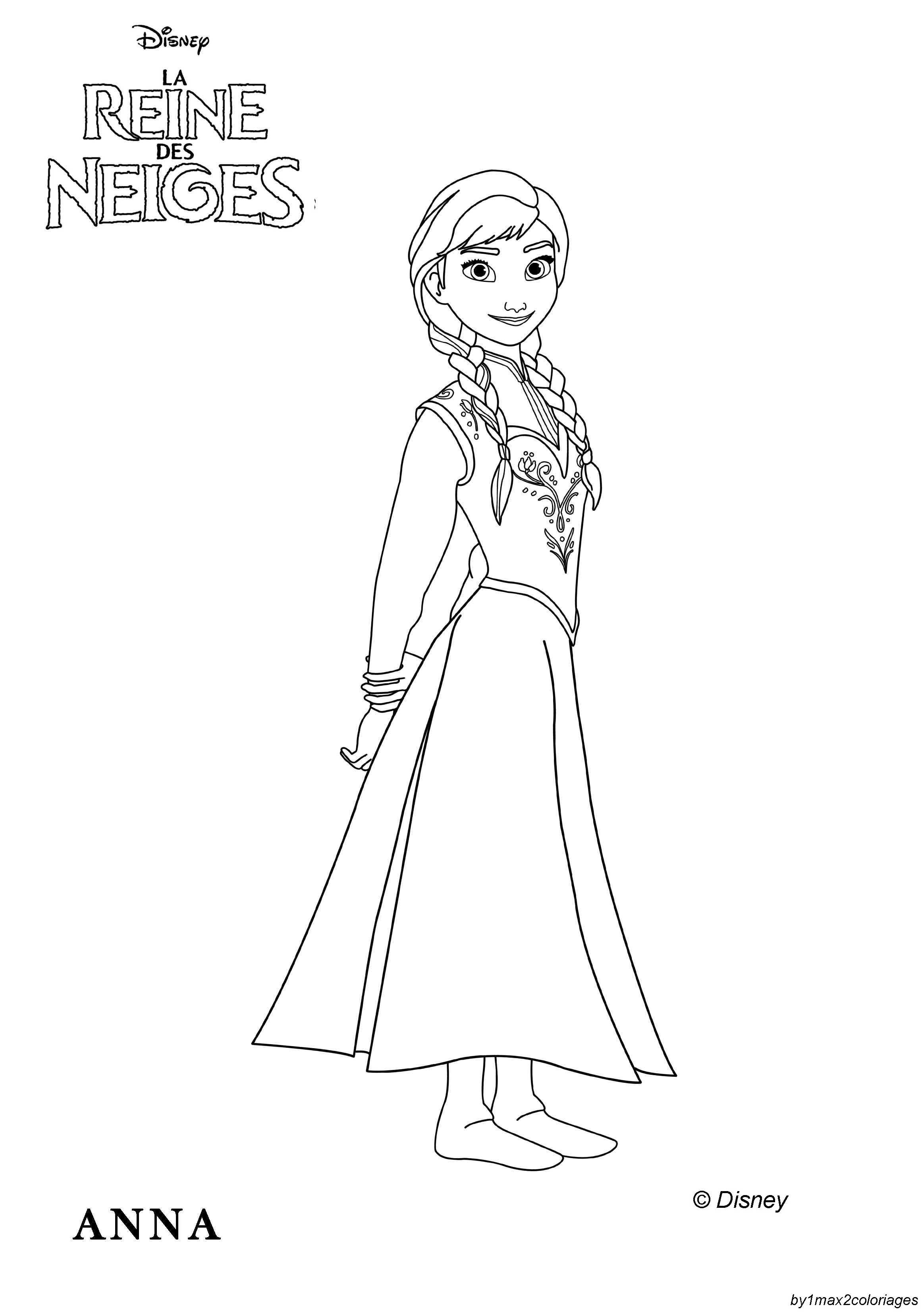 Coloriage Officiel De La Reine Des Neiges Elsa La Reine Des Neiges