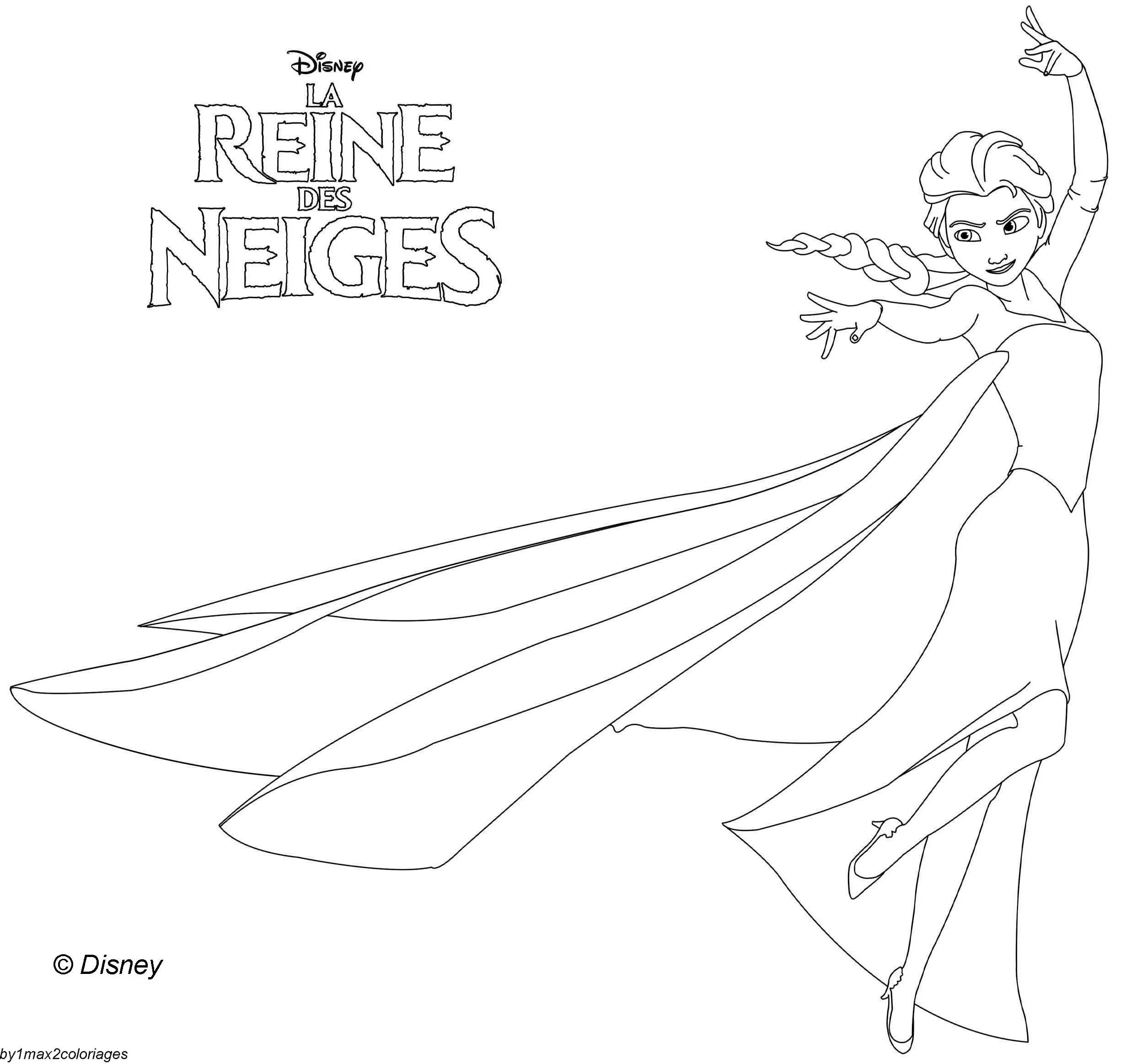 Coloriage Des Personnages Disney La Reine Des Neiges Elsa La