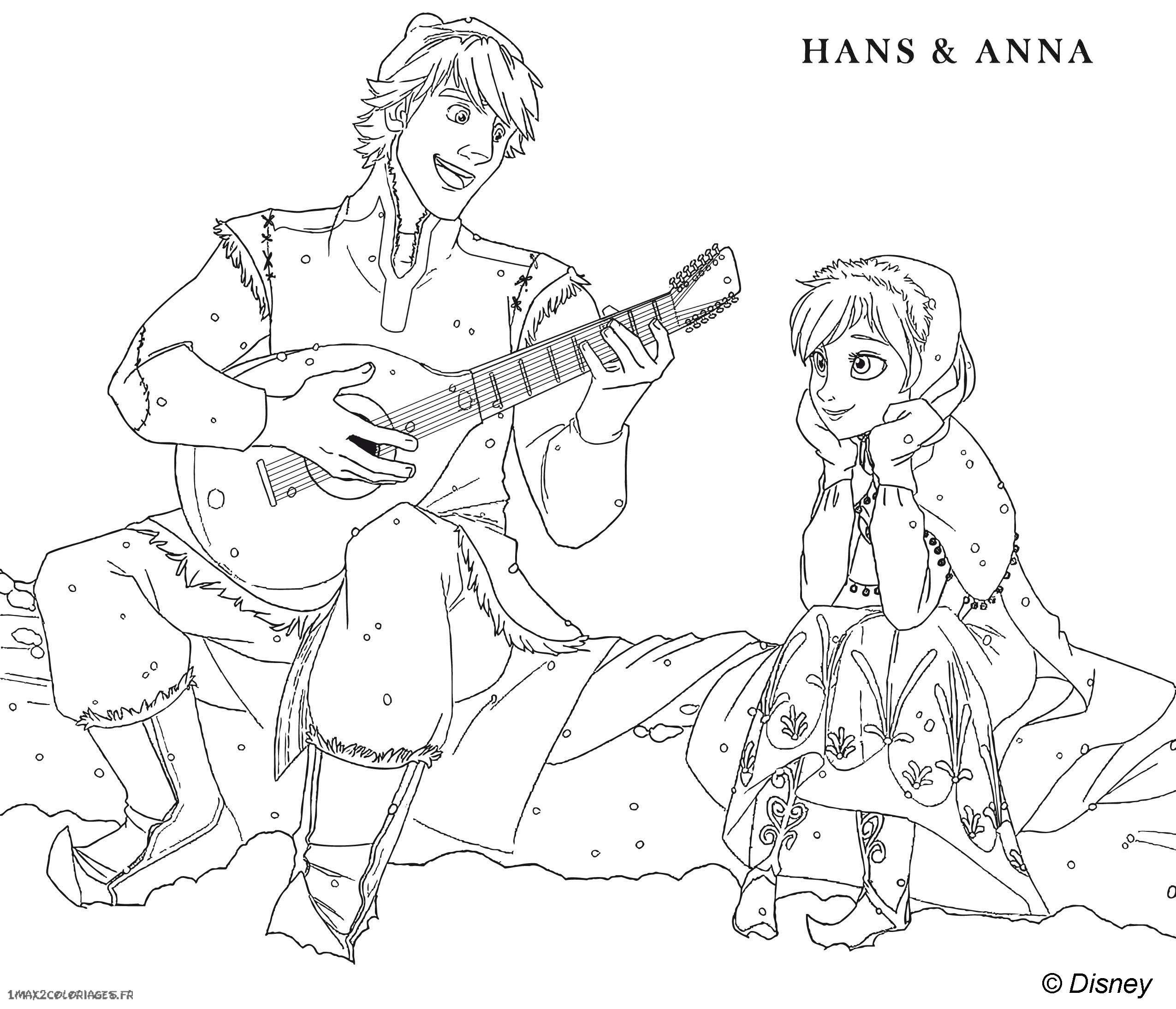 free coloring pages of anna and hans. Black Bedroom Furniture Sets. Home Design Ideas