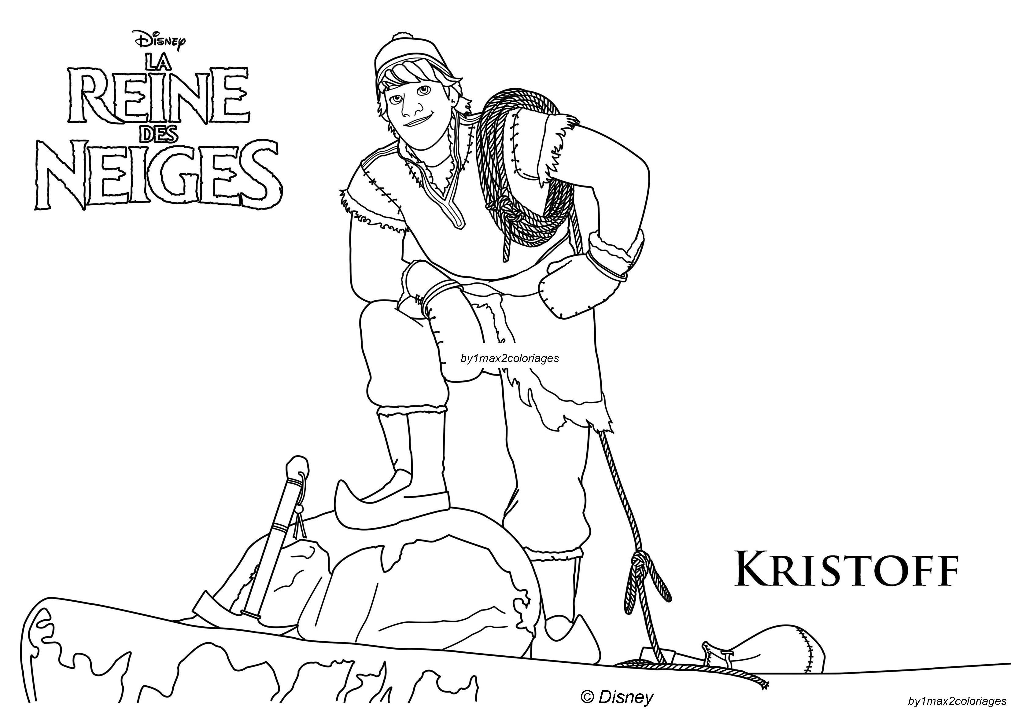 Coloriage Des Personnages La Reine Des Neiges Kristoff Est Un
