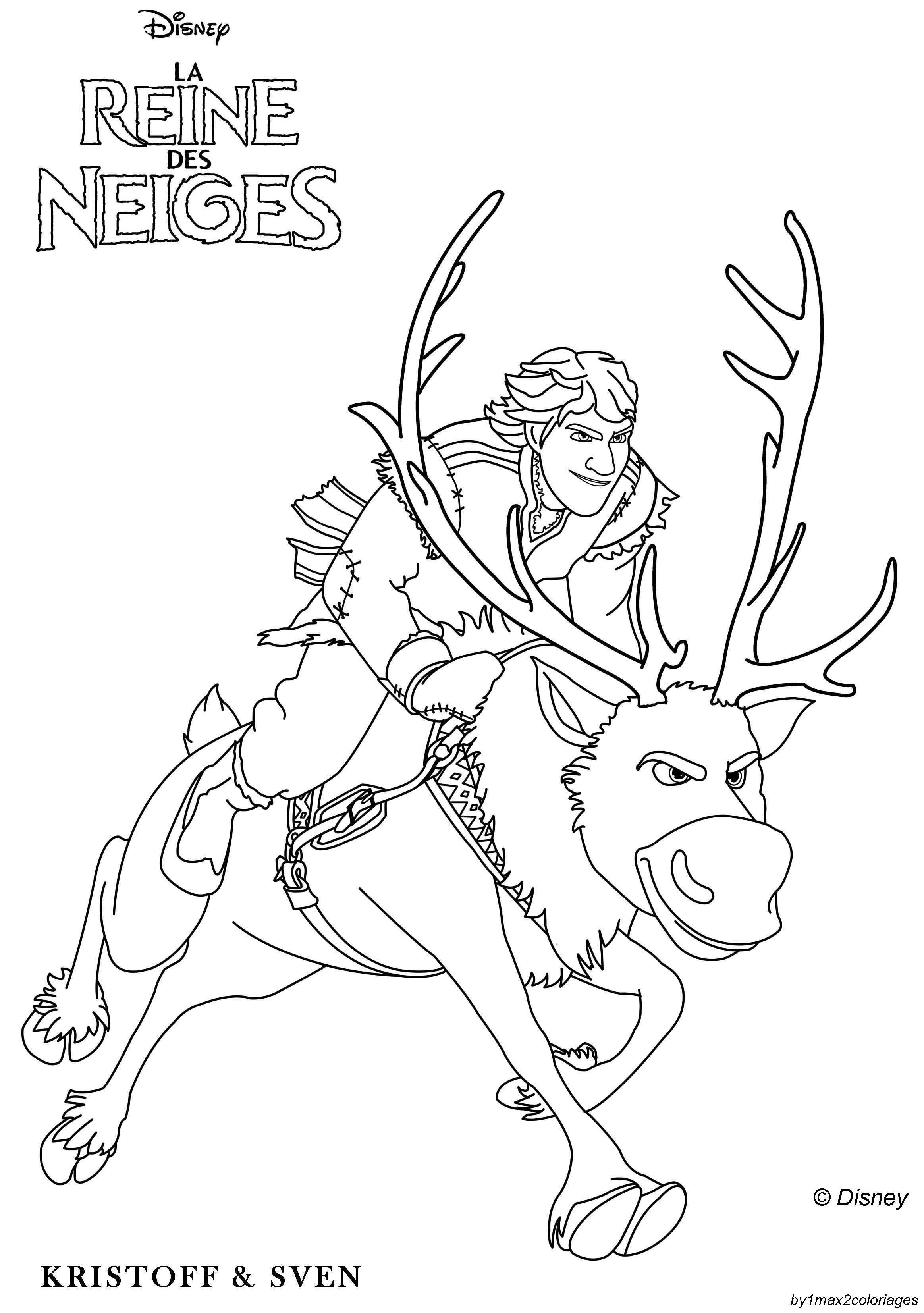 Coloriage des personnages disney la reine des neiges - Coloriage frozen ...