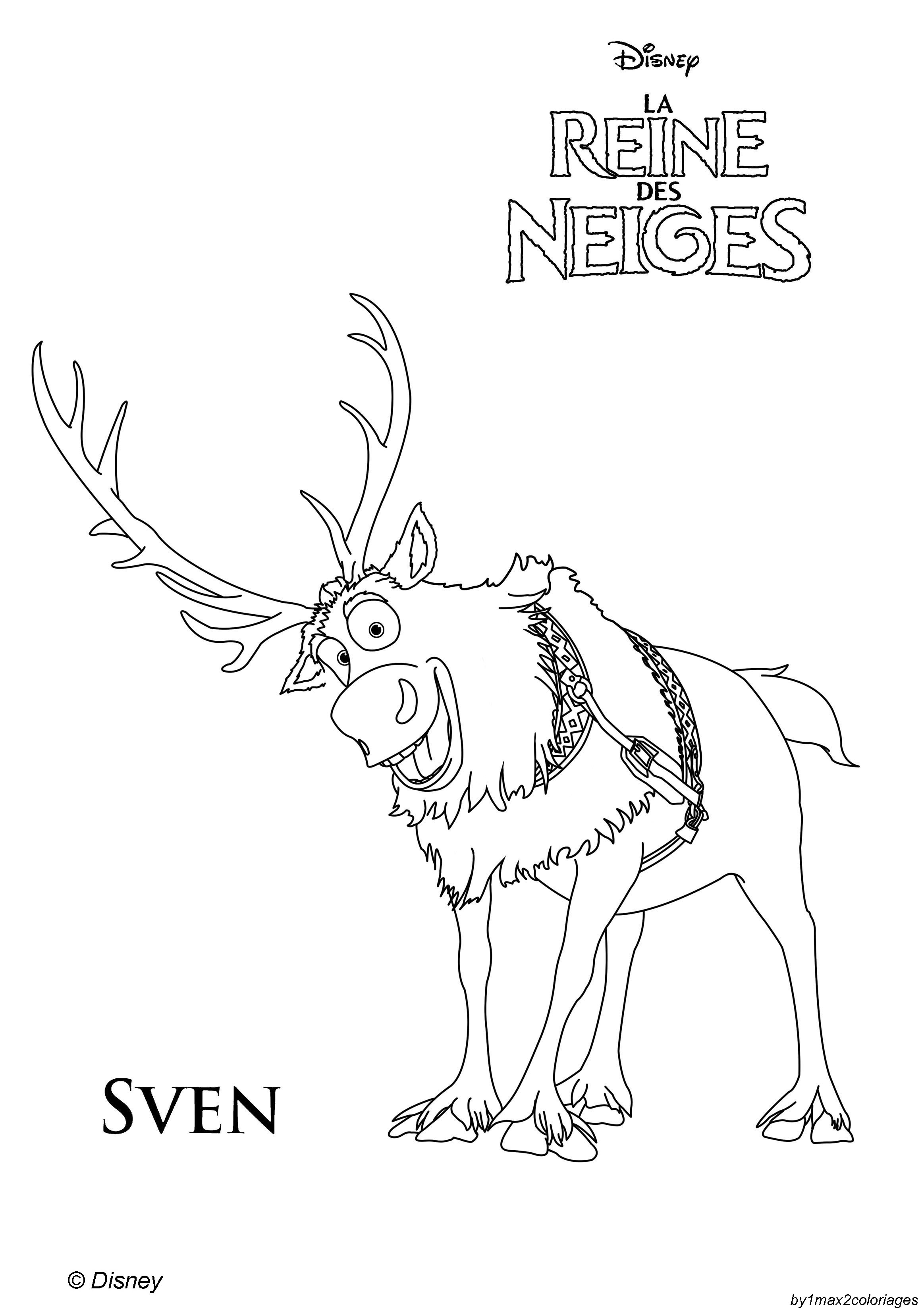 Free Coloring Pages Of Baby Sven