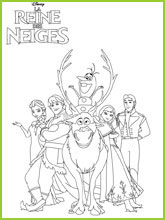 Coloriage Monstre Reine Des Neiges.Coloriages La Reine Des Neiges Frozen Coloring Page
