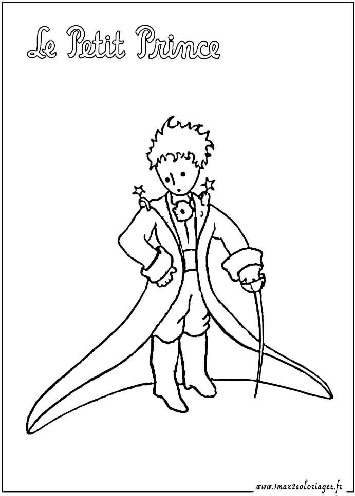 Coloriages du petit prince de saint exupery le petit - Coloriage de prince ...