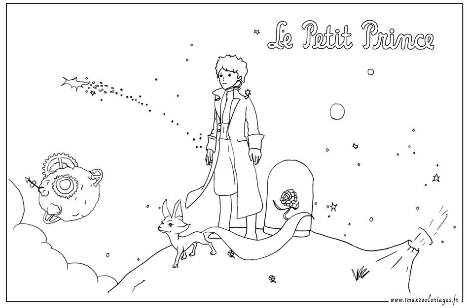 Coloriage le petit prince et le renard gratuit imprimer - Coloriage le petit prince ...
