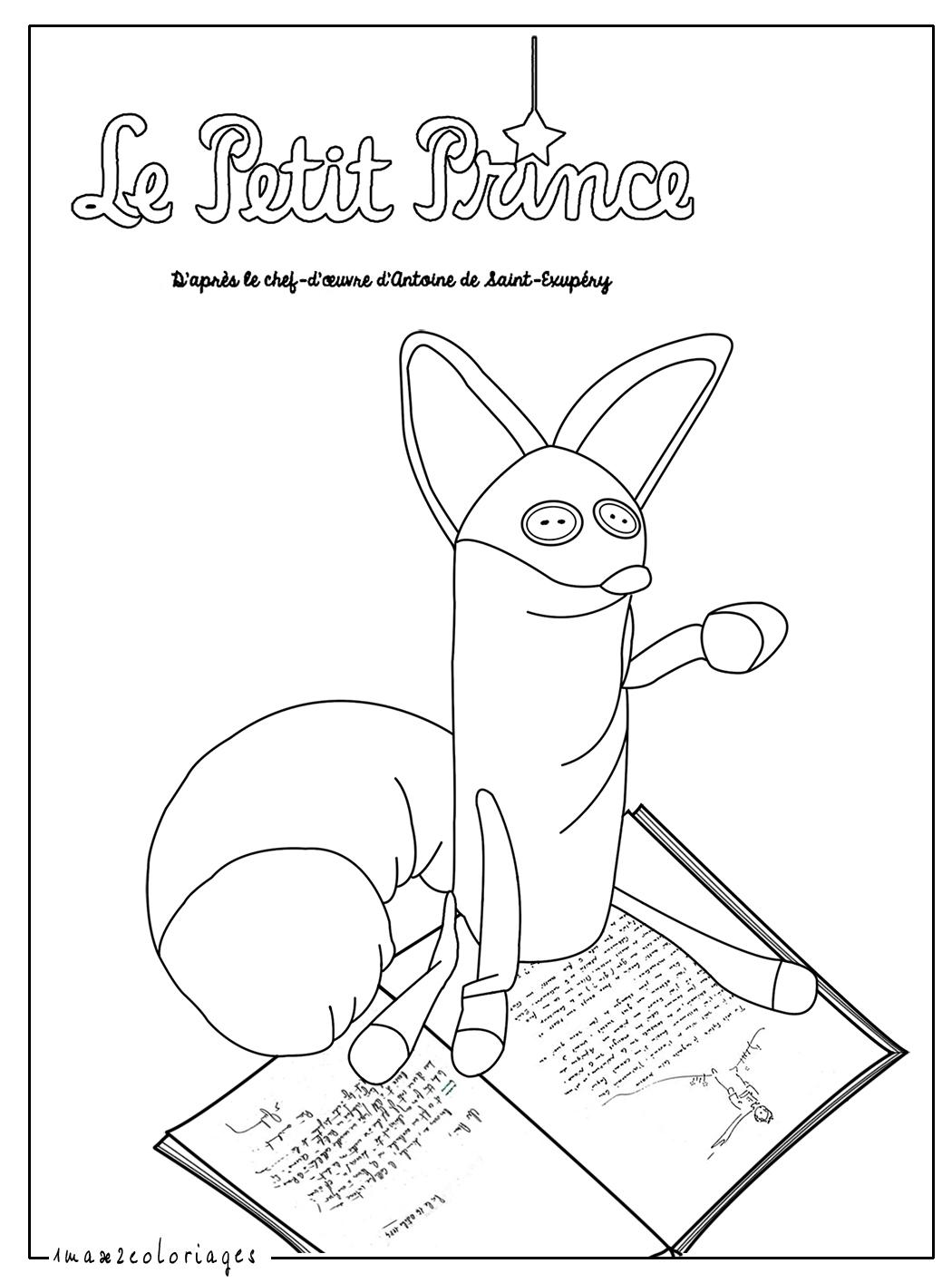 Coloriages du petit prince de saint exupery le renard - Coloriage petit renard ...