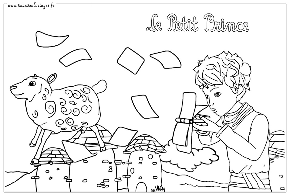 1000 images about der kleine prinz on pinterest the little prince prince and coloring books - Coloriage renard petit prince ...