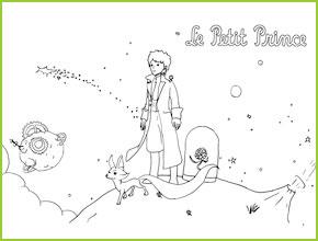Célèbre Coloriages du Petit Prince de Saint Exupery va imprimer AU13