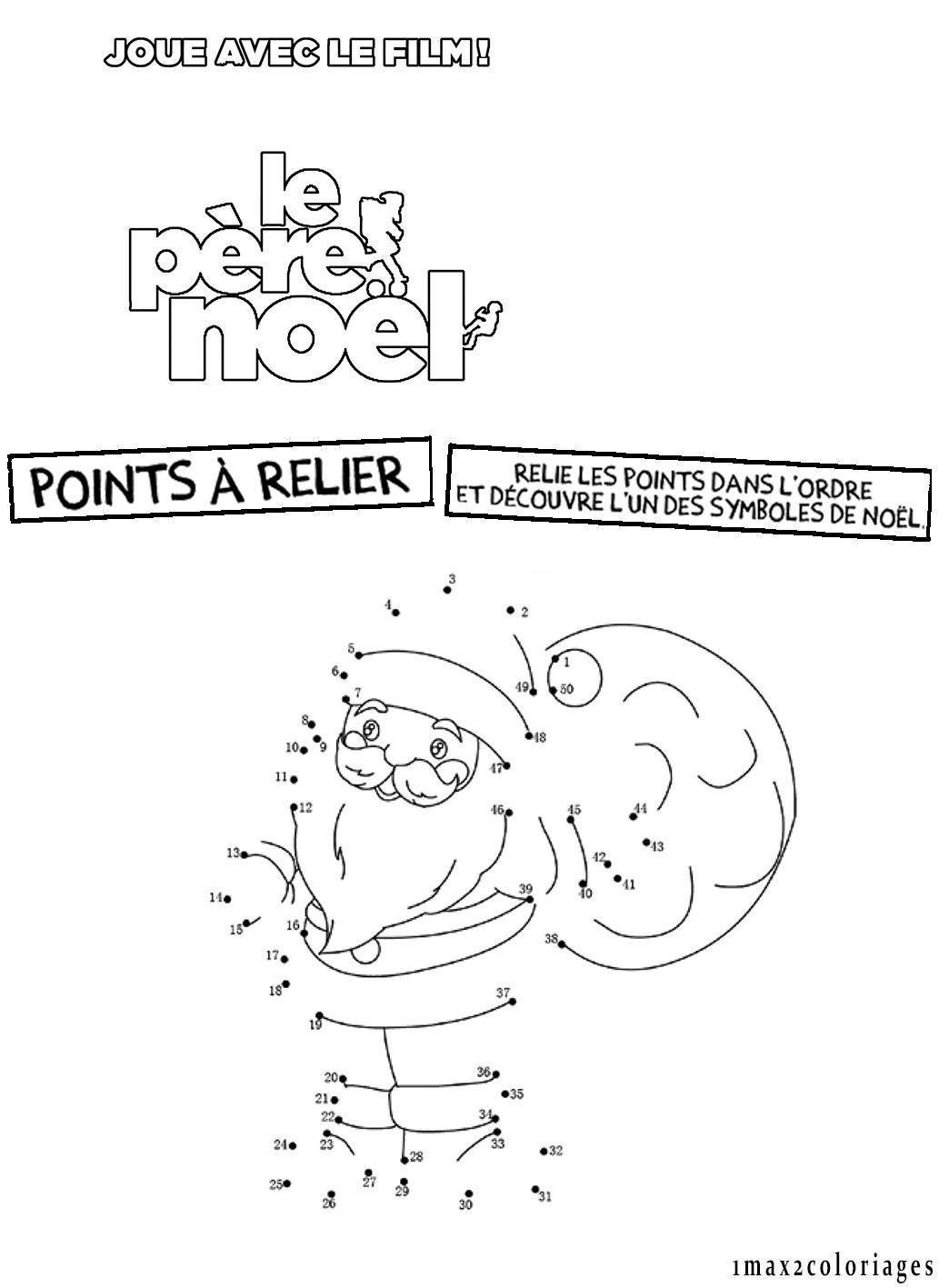 Joue avec le film le pere noel les points relier - Points a relier noel ...