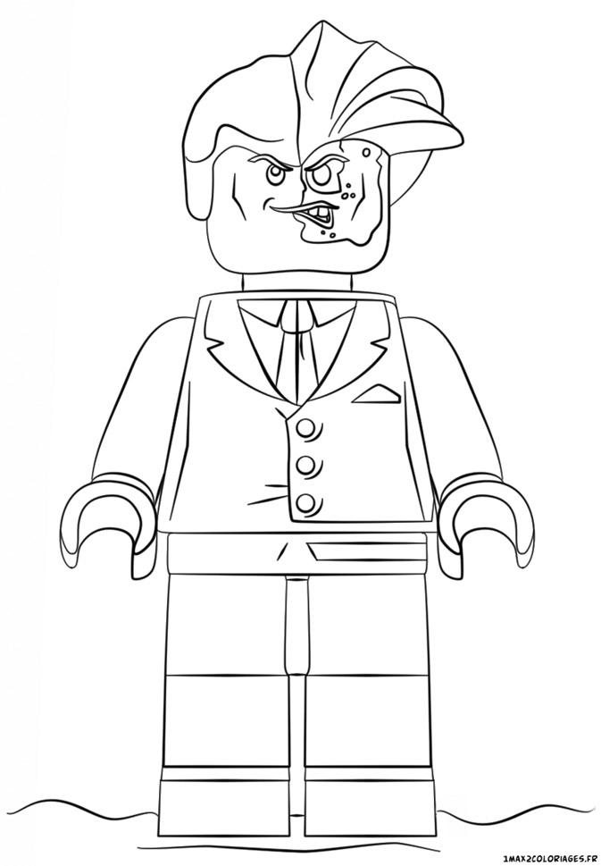 Le coloriage double face personnage de lego batman le film - Coloriage personnage lego ...