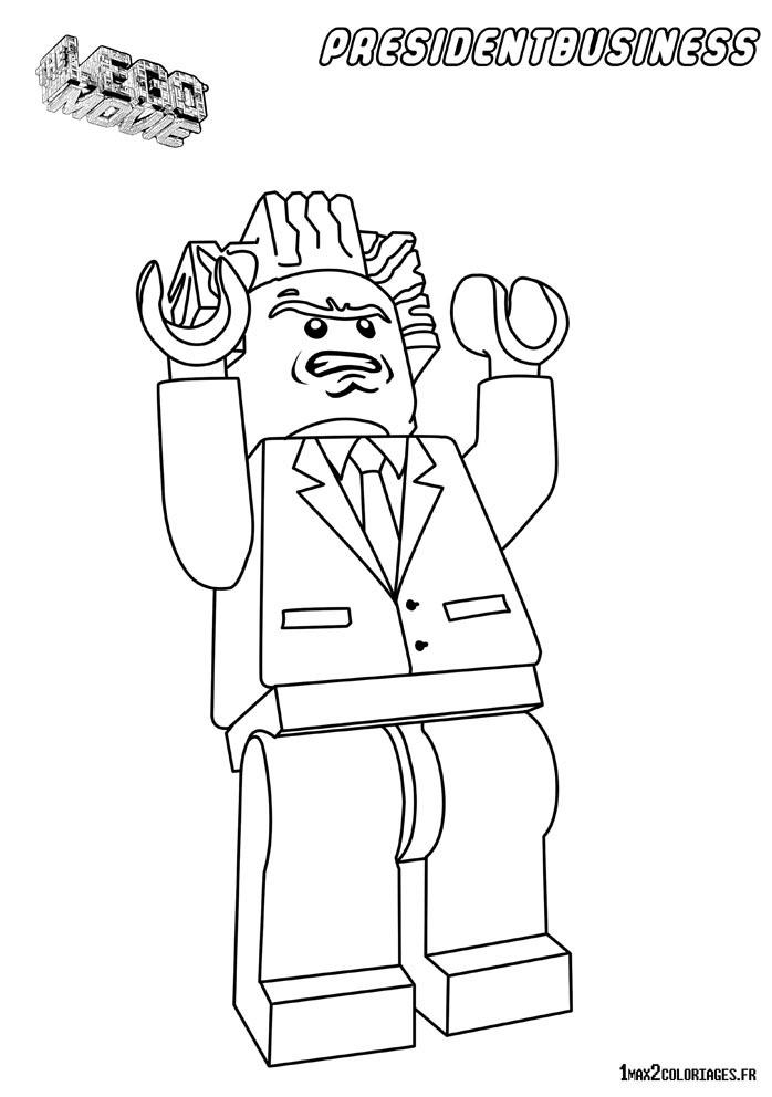 Coloriage personnage lego le film le pr sident business - Coloriage personnage lego ...