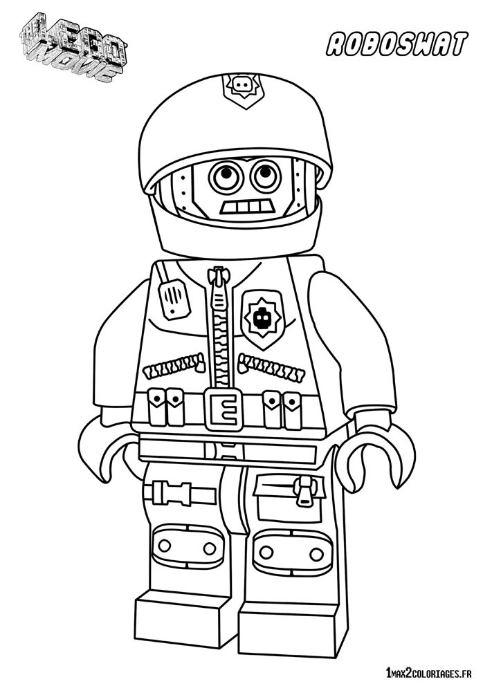 Free Coloring Pages Of Lego Robot