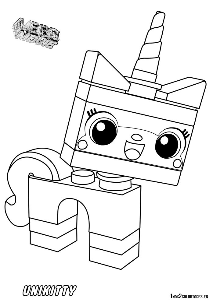 Lego movie coloring pages unikitty