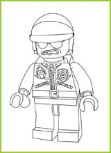 lego movie coloring pages bad cop wwwpixsharkcom