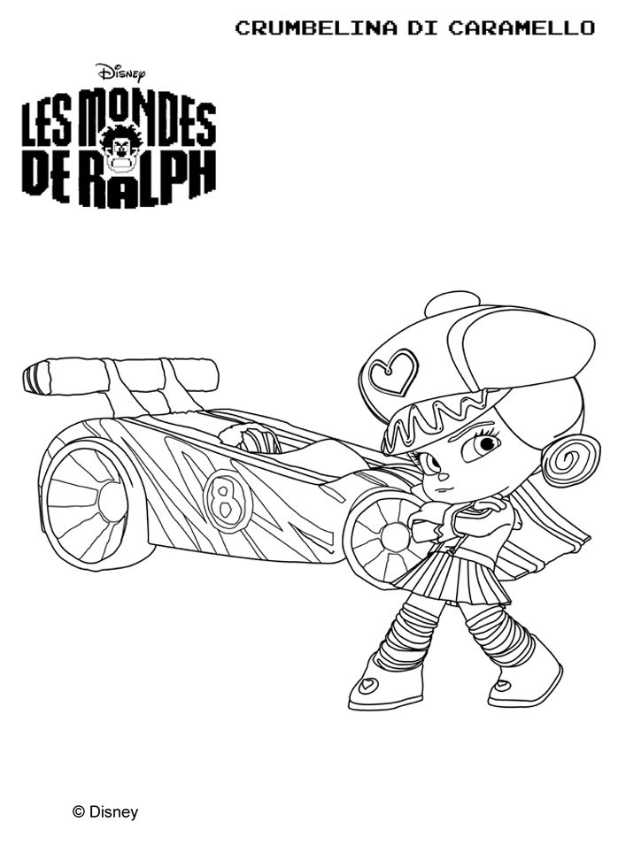 Wreck It Ralph Vanellope Coloring Pages