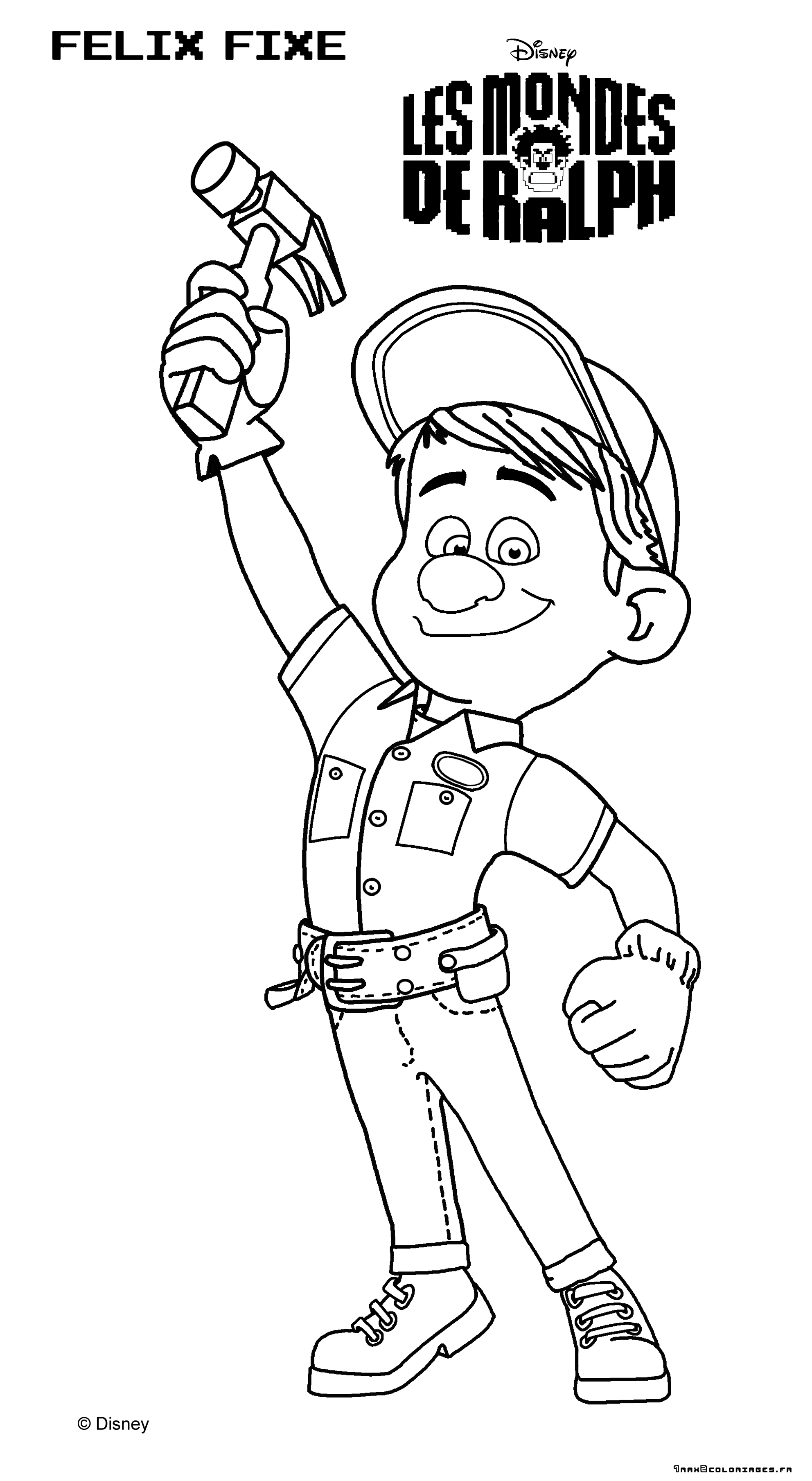 Coloring Page Wreck It Ralph