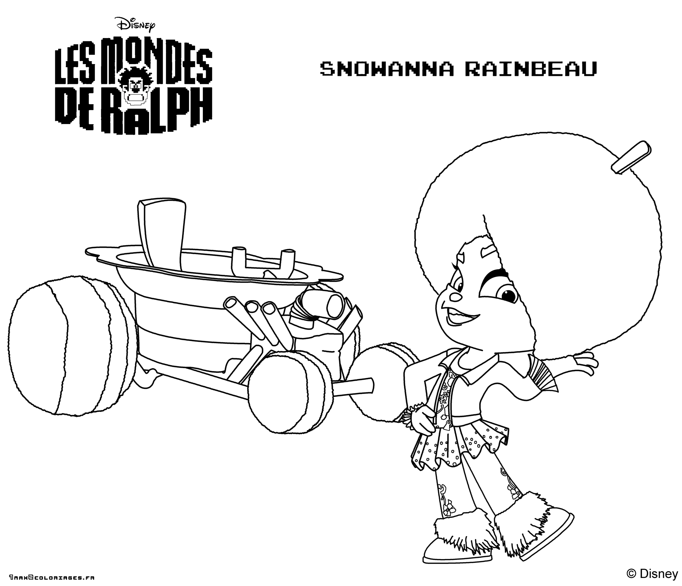 Coloriage Disney Ralph.Coloring Page Wreck It Ralph