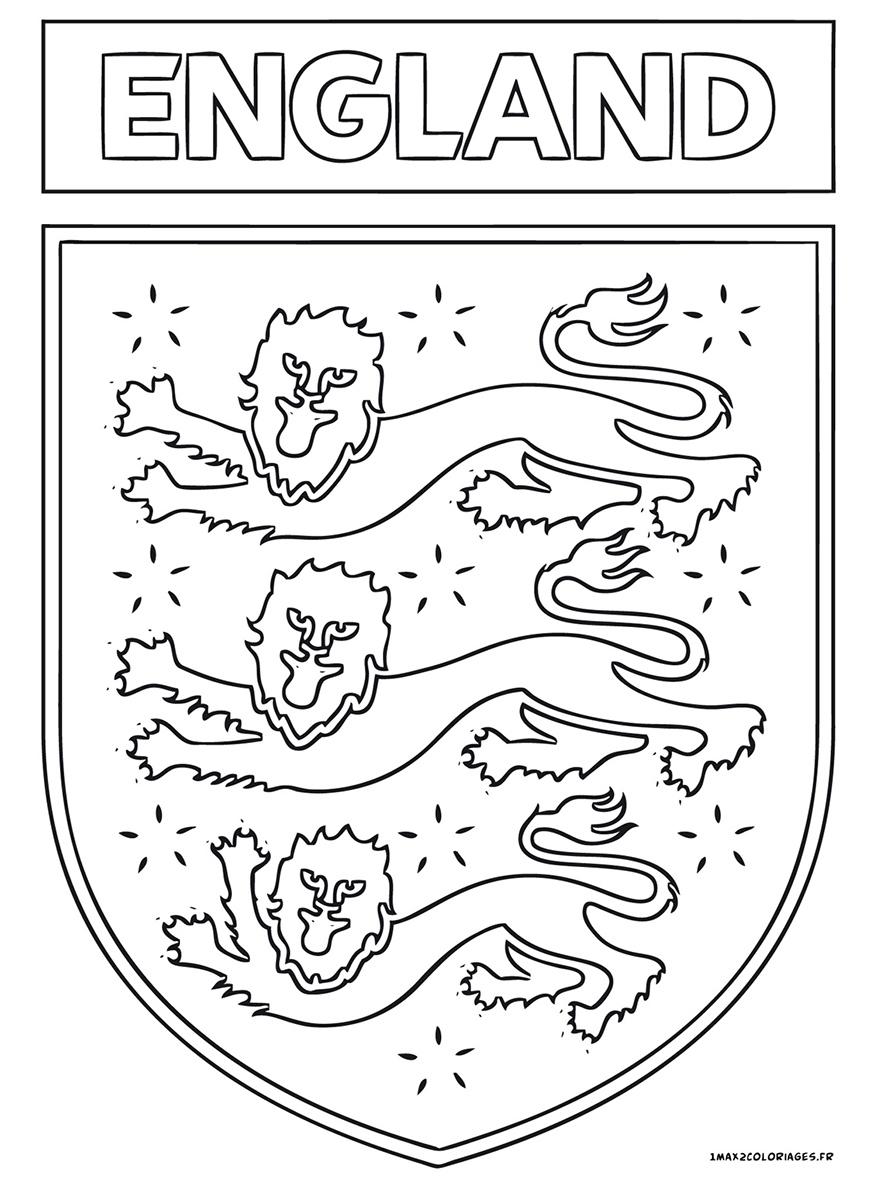 Euro 2016 Logo De L Equipe D Angleterre De Football A Imprimer