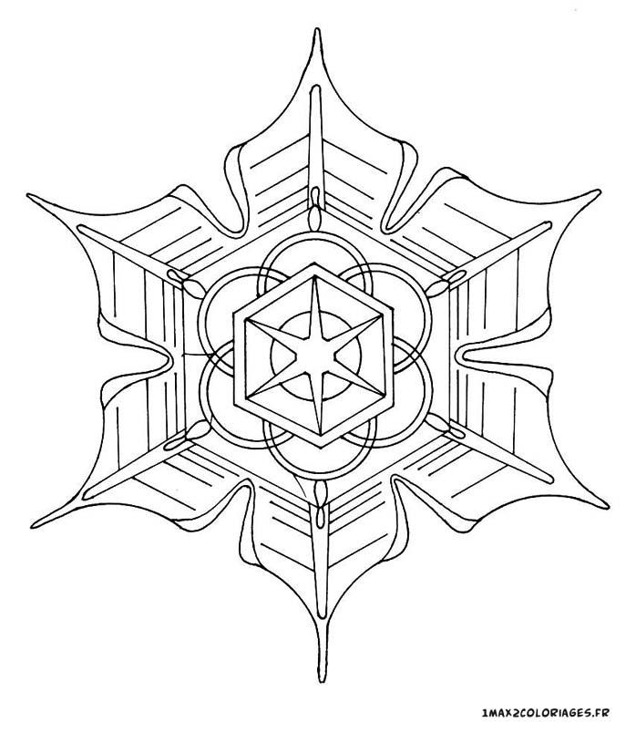 Coloriage De Mandalas Mandala Mandalas 6 Branches Avec Une Etoile